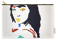 Carry-all Pouch featuring the painting Bjork by Stormm Bradshaw