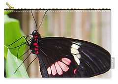 Black And Red Cattleheart Butterfly Carry-all Pouch by Amy McDaniel