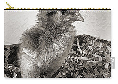Black And White Baby Chicken Carry-all Pouch