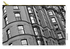 Black And White Building Facade Carry-all Pouch