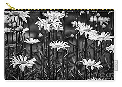 Black And White Daisies Carry-all Pouch by Mary Carol Story