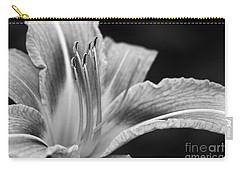 Black And White Daylily Flower Carry-all Pouch