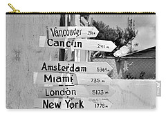 Black And White Directional Sign Carry-all Pouch