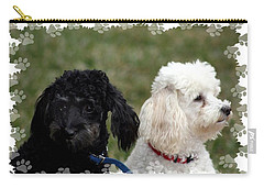 Black And White Carry-all Pouch by Ellen O'Reilly