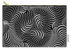Black And White Illusion Carry-all Pouch