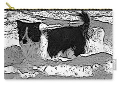 Carry-all Pouch featuring the photograph Black And White In Snow by Michael Porchik
