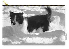 Carry-all Pouch featuring the photograph Black And White In The Snow by Michael Porchik