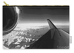 Carry-all Pouch featuring the photograph Jet Pop Art Plane Black And White  by R Muirhead Art