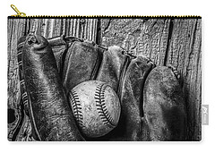 Black And White Mitt Carry-all Pouch