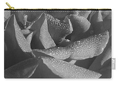 Black And White Morning Rose Carry-all Pouch