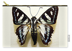 Black And White Moth Carry-all Pouch by Rosalie Scanlon