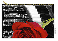 Black And White Music Collage Carry-all Pouch