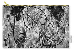 Black And White Carry-all Pouch by Nancy Merkle