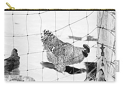 Black And White Rooster Carry-all Pouch