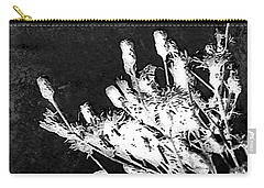 Carry-all Pouch featuring the photograph Black And White Wildflower by Shawna Rowe