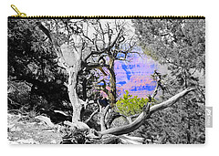 Black And White With Color Carry-all Pouch