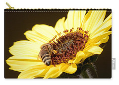 Black And Yellow Bee Beauty Carry-all Pouch by Belinda Lee