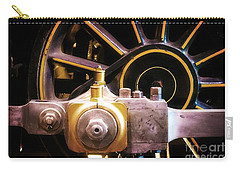 Black And Yellow Loco Wheel Carry-all Pouch