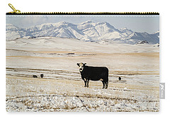 Black Baldy Cows Carry-all Pouch by Sue Smith
