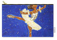 Black Ballerina Carry-all Pouch by Stormm Bradshaw