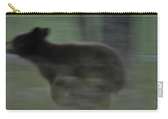 Black Bear Cub Running Carry-all Pouch