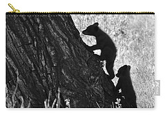 Black Bear Cubs Climbing A Tree Carry-all Pouch