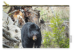 Carry-all Pouch featuring the photograph Black Bear by Michael Chatt