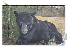 Black Bear - Wildlife Art -scruffy Carry-all Pouch