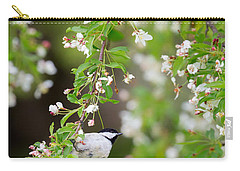 Black Capped Chickadee Portrait Carry-all Pouch