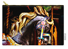 Black Carousel Horse Carry-all Pouch