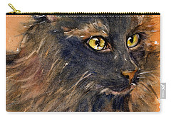 Black Cat Carry-all Pouch by Judith Levins