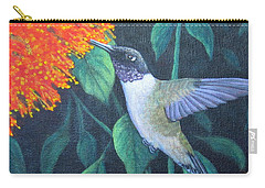 Carry-all Pouch featuring the painting Black-chinned Hummingbird by Fran Brooks