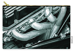 Carry-all Pouch featuring the photograph Black Cobra - Ford Cobra Engines by Steven Milner