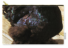 Carry-all Pouch featuring the photograph Black Cochin by Sherman Perry
