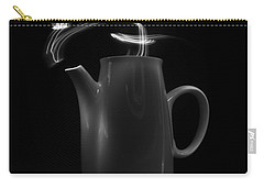 Carry-all Pouch featuring the photograph Black Coffee Pot - Light Painting by Steven Milner