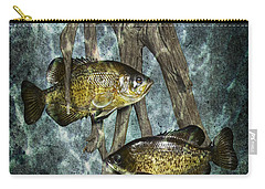 Black Crappies A Fish Image No 0143 Blue Version Carry-all Pouch