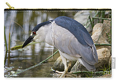 Black-crown Heron Going Fishing Carry-all Pouch by David Millenheft
