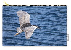 Black Crowned Night Heron In Flight Carry-all Pouch