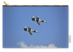 Carry-all Pouch featuring the photograph Black Diamonds In The Sky by DigiArt Diaries by Vicky B Fuller
