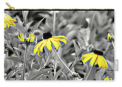 Black-eyed Susan Field Carry-all Pouch by Carolyn Marshall