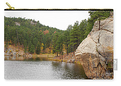 Carry-all Pouch featuring the photograph Black Hills Lake by Mary Carol Story