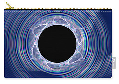 Carry-all Pouch featuring the digital art Black Hole by Victoria Harrington