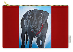Black Lab Carry-all Pouch by Leslie Manley