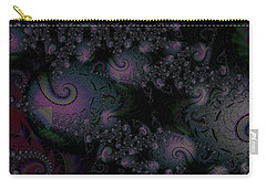 Carry-all Pouch featuring the digital art Black Light Reveal by Elizabeth McTaggart