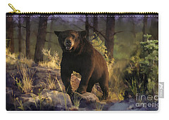 Carry-all Pouch featuring the painting Black Max by Rob Corsetti