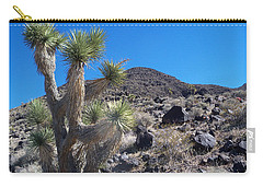 Carry-all Pouch featuring the photograph Black Mountain Yucca by Alan Socolik