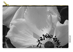 Carry-all Pouch featuring the photograph Black On White by Cheryl Hoyle