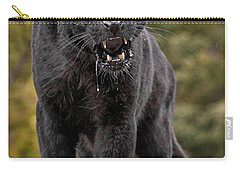 Black Panther Carry-all Pouch by Jerry Fornarotto
