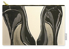 Black Pumps Carry-all Pouch by Marisela Mungia