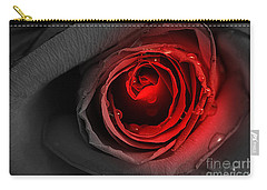 Black Rose Carry-all Pouch by Adrian LaRoque